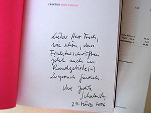 dissertation handschriftliche widmung