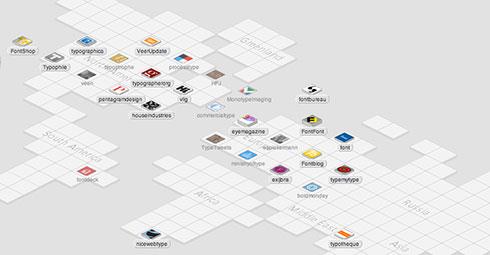Web Trend Map typografisch und interaktiv