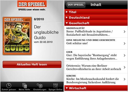 Fehlstart beim spiegel iphone app update fontblog for Spiegel printausgabe