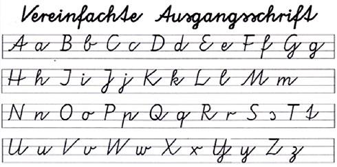 schreibschrift lernen