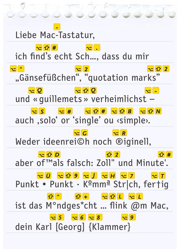 Spickzettel Mac-Tastatur (Quelle: www.fontblog.de)