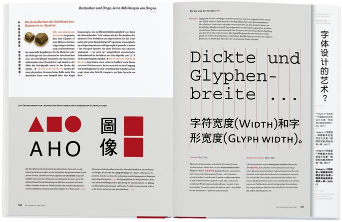 Fachchinesisch, Doppelseite Chinesischer Satz, Susanne Zippel