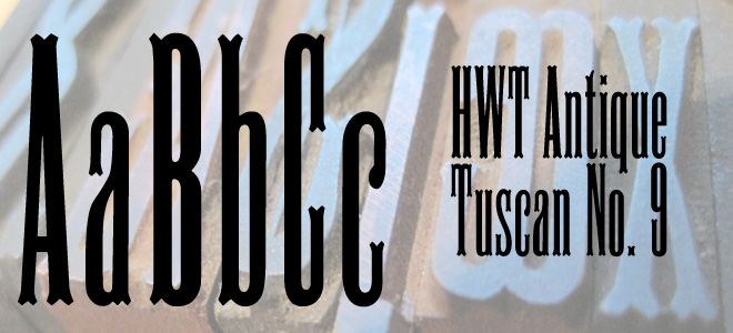 FontShop: HWT Antique Tuscan No. 9