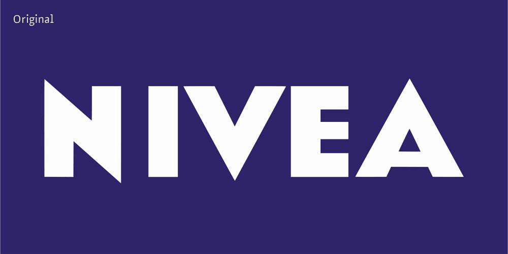 Nivea: Das Logo mit der Lücke - Fontblog
