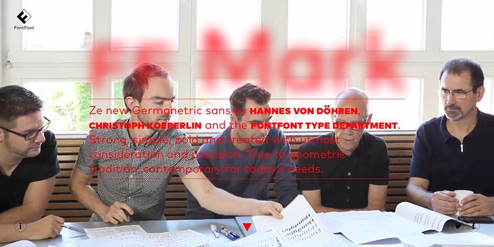 FF-Mark-Entwerfer Hannes von Döhren, Christoph Koeberlin und das FontFont-Tech-Team