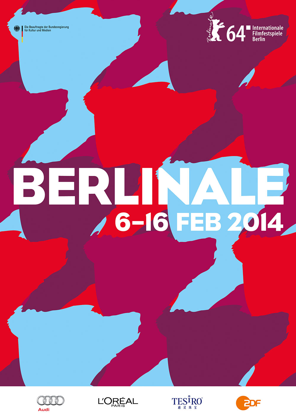 Das amtliche Berlinale Plakat 2014, designed by Boros, © Berlinale