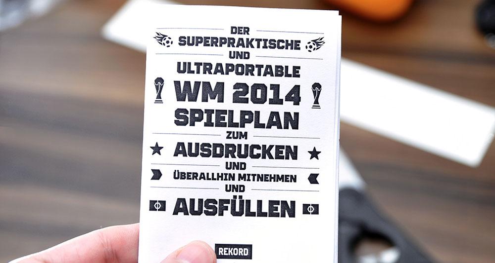WM-Spielplan 214 zum Selberbasteln