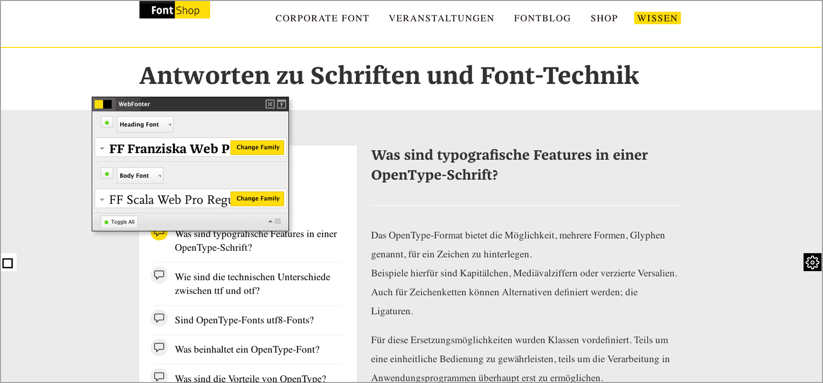 WebFonter Screenshot