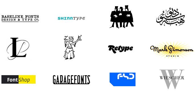 Webfont Fondries FontShop