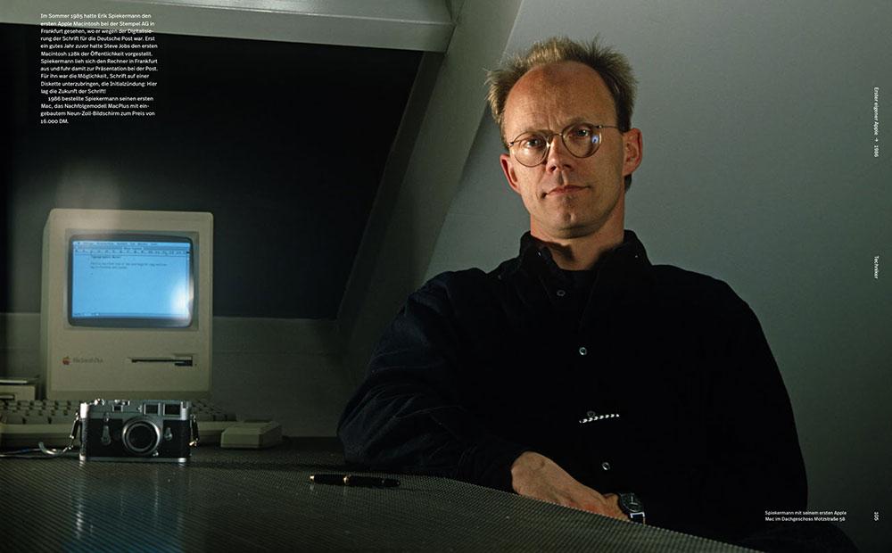 Doppelseite aus ›Hallo ich bin Erik‹, Portrait, Büro 1986