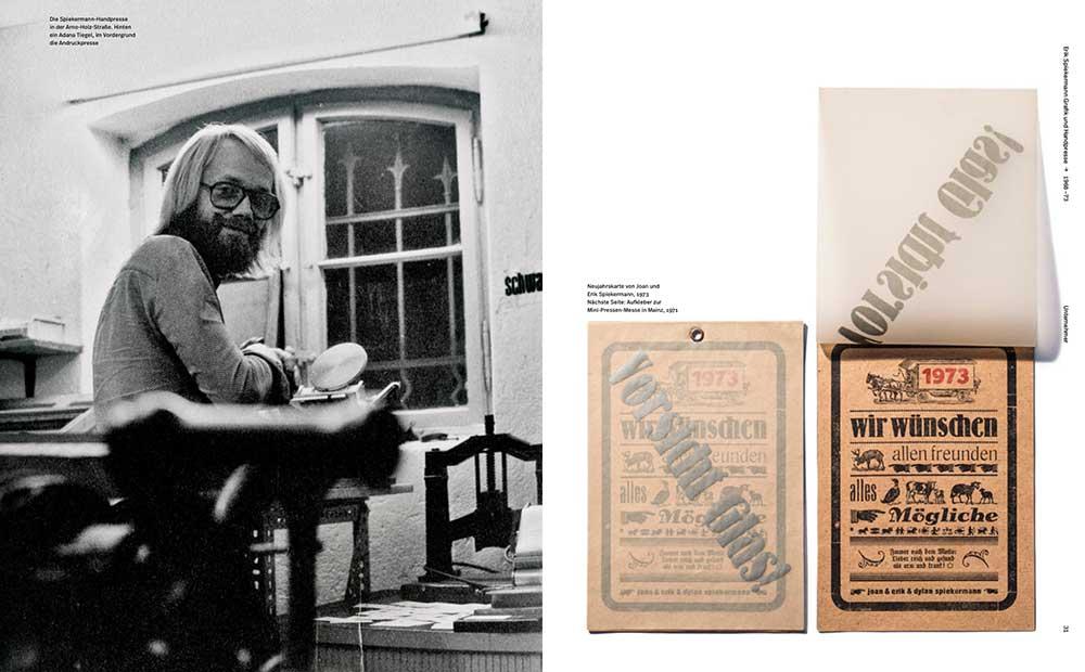 Erik Spiekermann 1973, selbst gedruckte Neujahrskarte