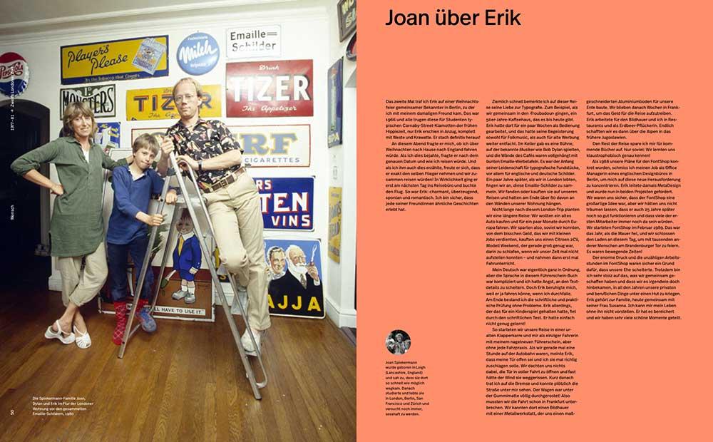 Doppelseite aus ›Hallo ich bin Erik‹, mit Gastbeitrag von Joan Spiekermann