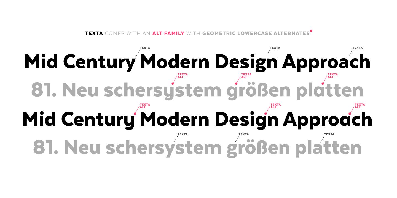 Texta-Alternates FontShop