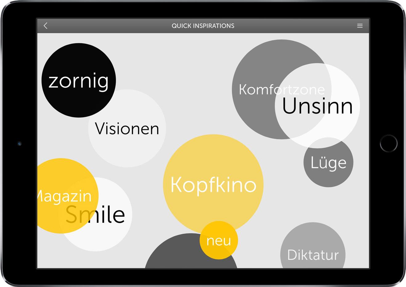 Die Kreativmethode »Mind Jumble Words«, eine Art Dehnübung für unser Sprachzentrum, verknüpft weit auseinander liegende Begriffe … dazwischen ergibt sich Platz für neue Assoziationen