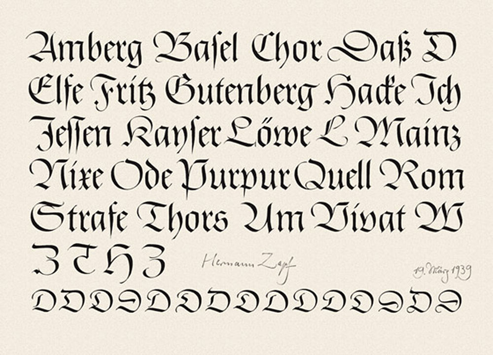 What Script Is Used For German Lettering
