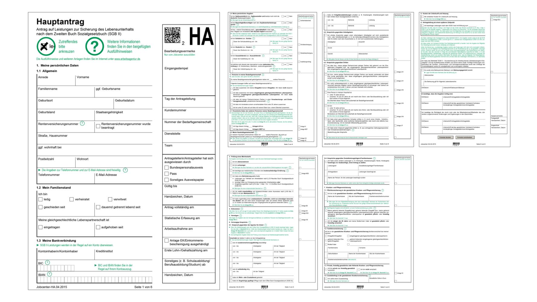 1-Harz-4-Anträge
