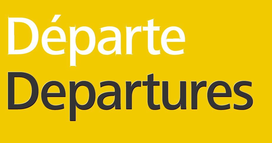 Schnittmuster fr das zweisprachige Flughafen-Leitsystem