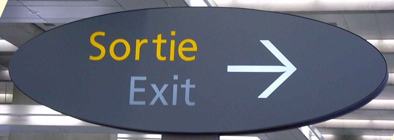 Bis heute im Einsatz: Die Schrift Frutiger auf dem Flughafen Charles de Gaulle in Paris