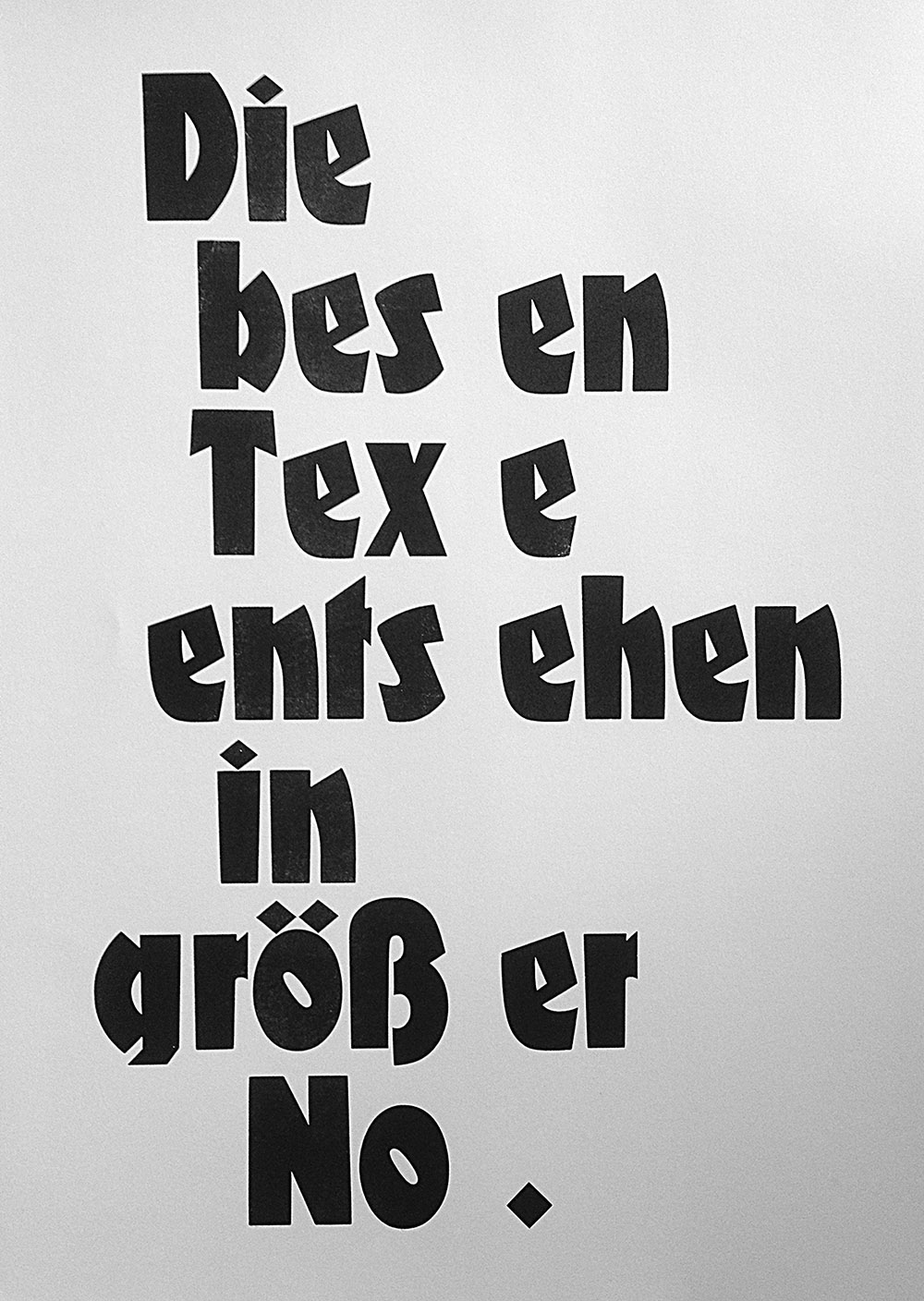 Plakat »Text in Not« zum CreativeMorning Berlin »Broken«