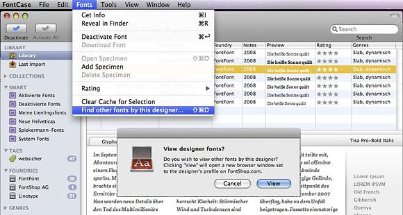 FontCase erweitern mit Plug-ins